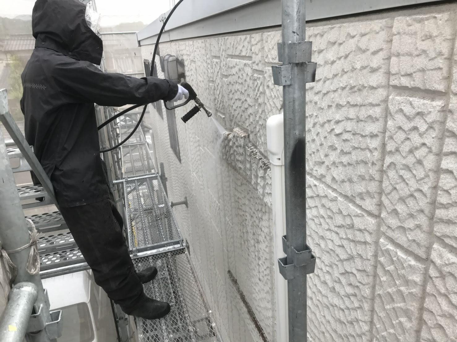 外壁(ALC)高圧洗浄